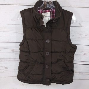 Aeropostale Puffer Vest Fully Lined Zip Up